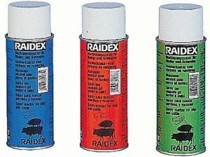 RAIDEX MERKSPRAY SCHAAP BLAUW 500ML.