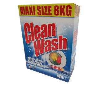 CLEAN WASH GEZINSWASMIDDEL 8KG. 80WASB.